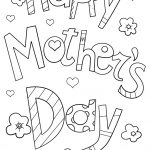 Happy Mother's Day Doodle Coloring Page | Free Printable Coloring   Free Printable Mothers Day Coloring Cards