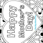 Happy Mother's Day Free Coloring Page Printable For Kids! | Mother's   Free Printable Mothers Day Coloring Pages