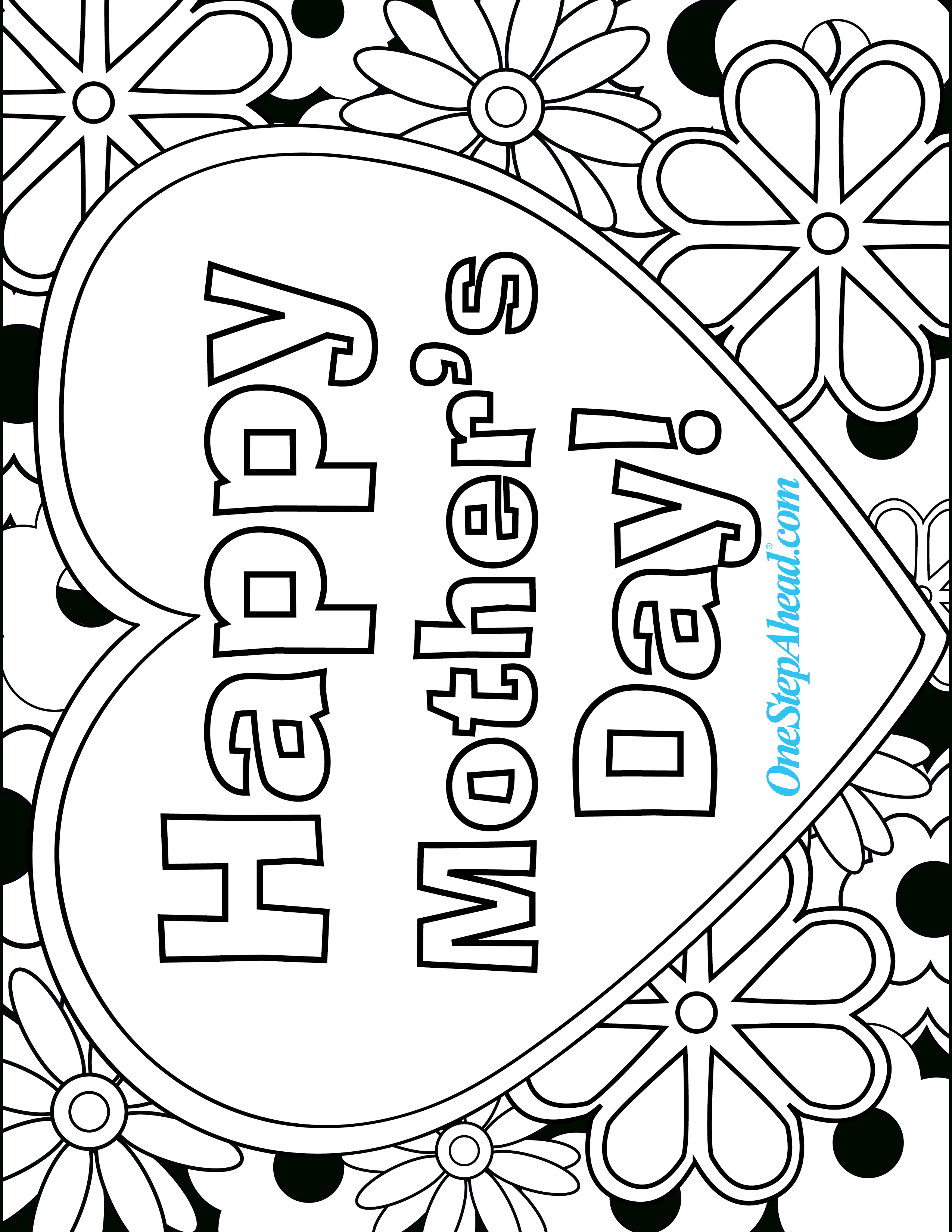 Happy Mother's Day Free Coloring Page Printable For Kids! | Mother's - Free Printable Mothers Day Coloring Pages