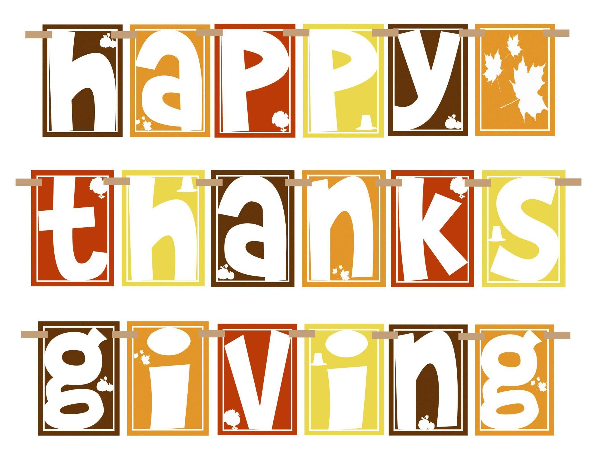 Happy Thanksgiving Clipart Pictures, Photos, And Images For Facebook - Free Printable Happy Thanksgiving Banner