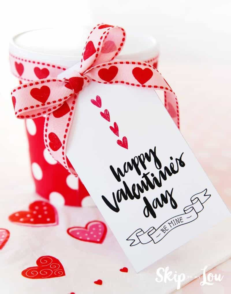 Happy Valentine's Day Gift Tags | Skip To My Lou - Free Printable Valentine Tags