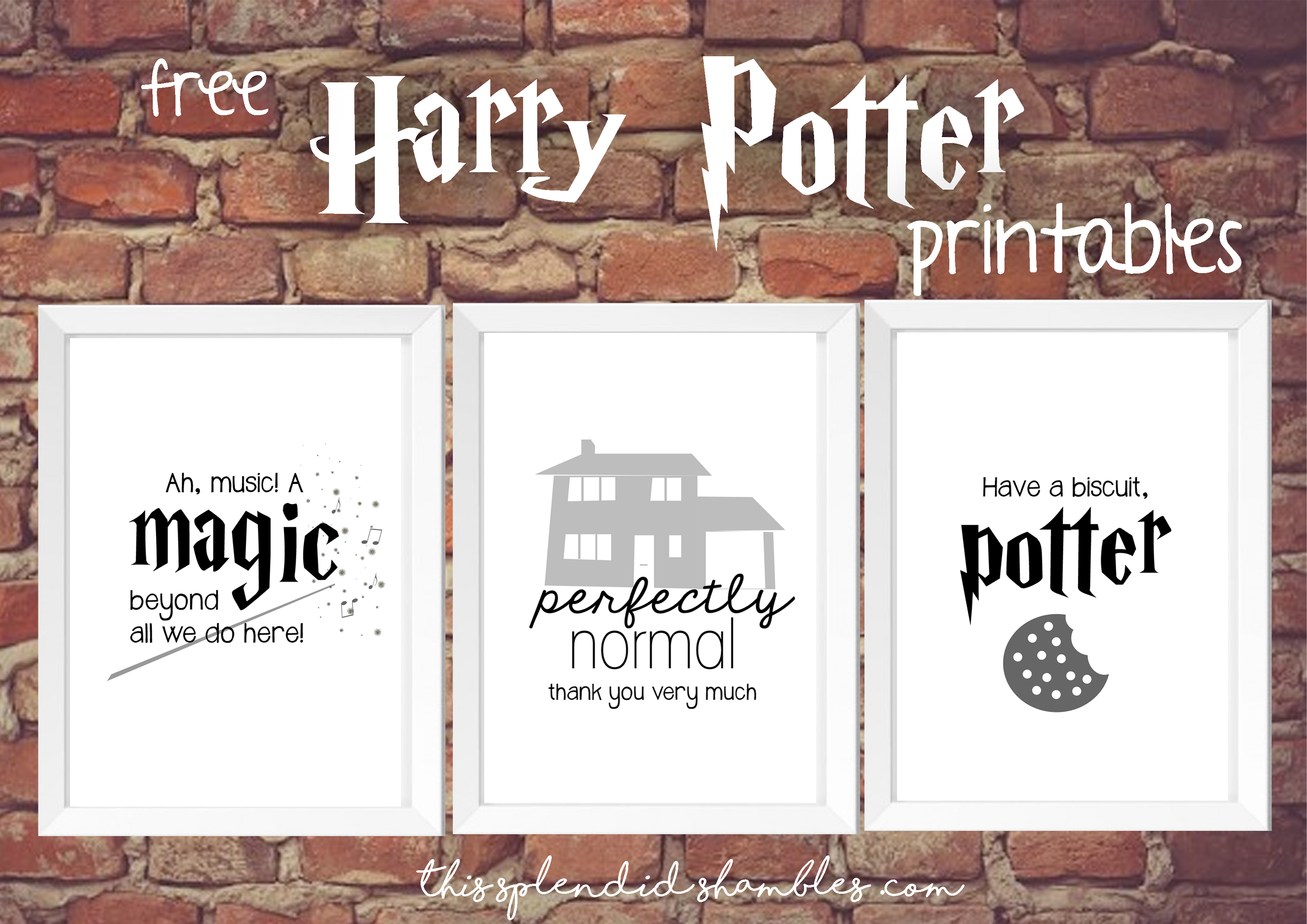 Harry Potter Week - 3 Free Printables - This Splendid Shambles - Free Printable Harry Potter Pictures