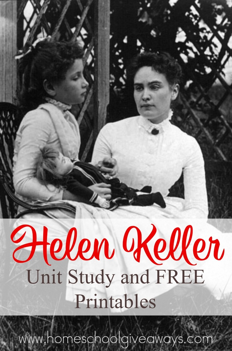 Helen Keller Unit Study And Free Printables - Homeschool Giveaways - Free Printable Pictures Of Helen Keller