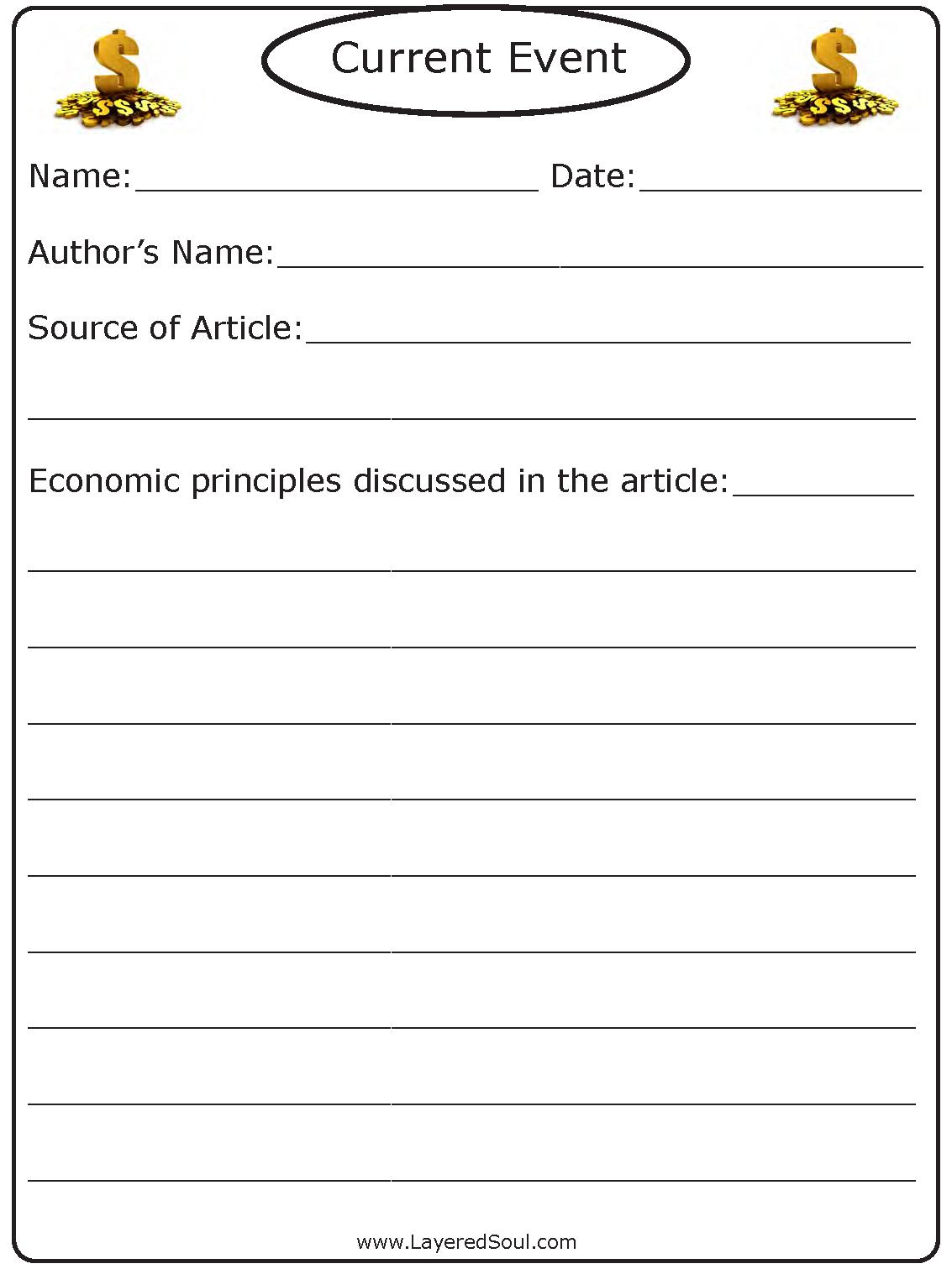 High School Economics Unit Plan For 1/2 Credit - Layered Soul Homeschool - Free Printable Economics Worksheets