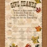 Holiday Party: Free Printable Autumn Free Printable Give Thanks   Free Printable Fall Festival Invitations