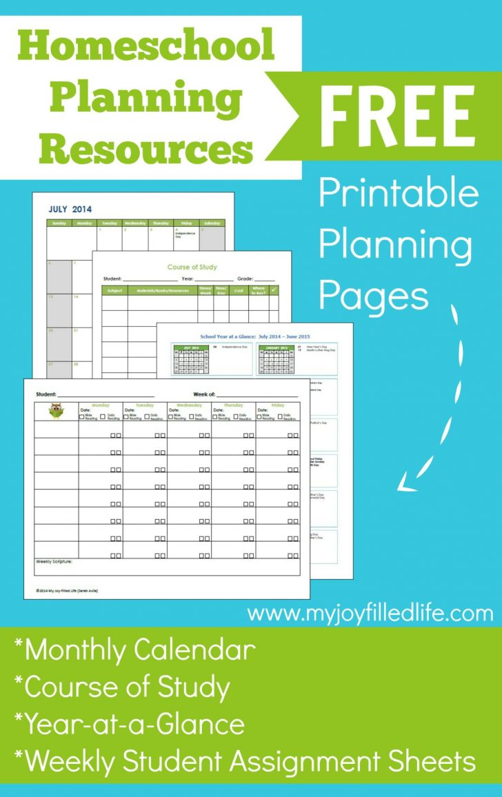 Free Printable Homeschool Curriculum