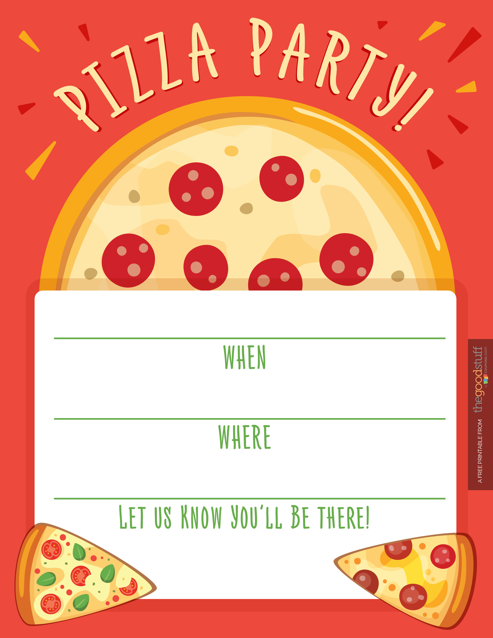 Hostess Helpers: Free Pizza Party Printables | For My Baby Jayden - Free Printable Italian Dinner Invitations