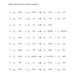 How To Balance Equations   Printable Worksheets   Free Printable Ged Science Worksheets