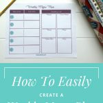 How To Easily Create A Weekly Menu Plan | Best Of Miss Sue Living   Create A Menu Free Printable