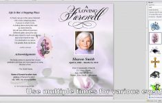 How To Make A Funeral Program In Word – Youtube – Free Printable Funeral Programs