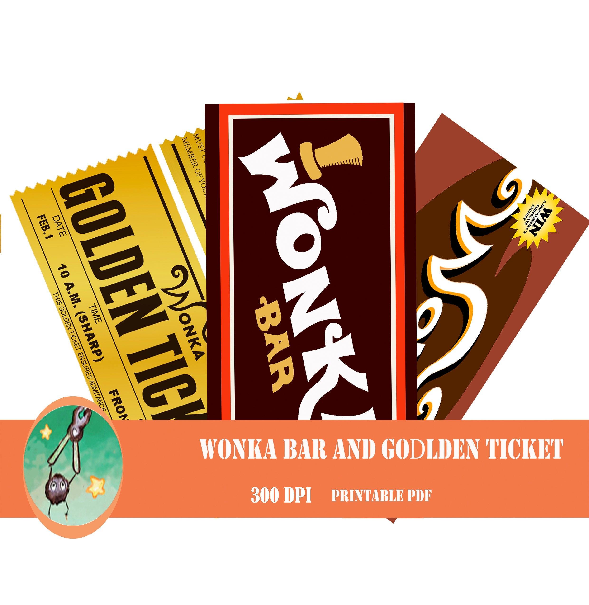 How To Make A Wonka Bar Wrapper - Wonka Bar Wrapper Printable Free