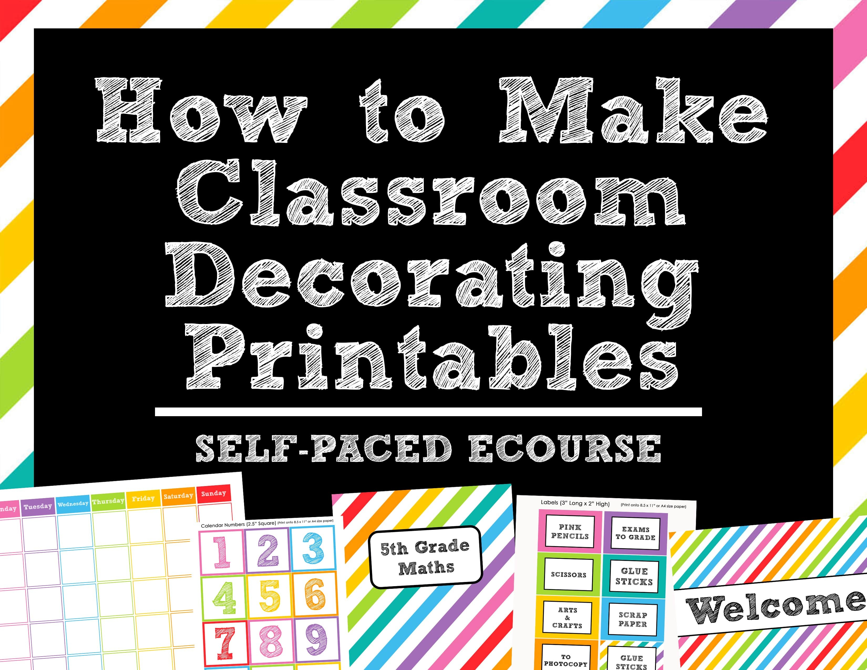 How To Make Teaching Printables And Classroom Decorating Kits To - Free Printable Classroom Tray Labels