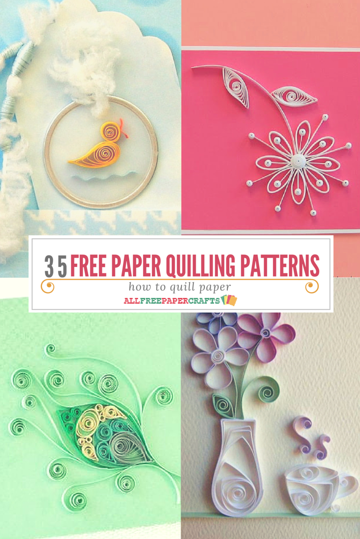 How To Quill Paper: 40+ Free Paper Quilling Patterns   Crafts - Free Printable Quilling Patterns Designs