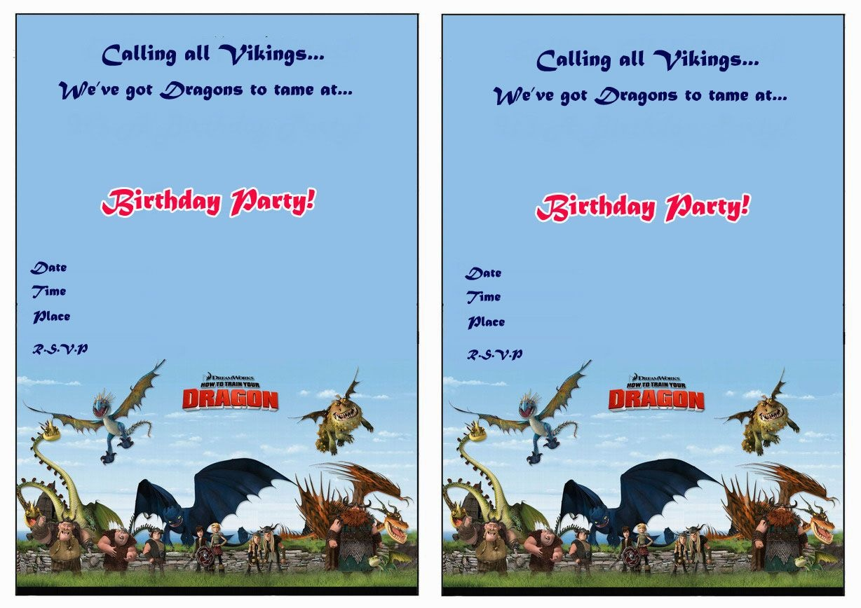 How To Train Your Dragon Birthday Printable Invitations Click Image - How To Train Your Dragon Birthday Invitations Printable Free