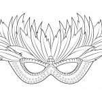 "I Love Coloring Ii ~ Venetian Mardi Gras Mask | Icolor ""the Arts   Free Printable Mardi Gras Masks"