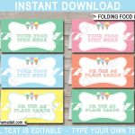 Ice Cream Party Food Labels | Place Cards | Ice Cream Theme Party   Free Printable Food Tags For Buffet