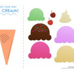 Ice Cream Templates And Coloring Pages For An Ice Cream Party   Ice Cream Cone Template Free Printable