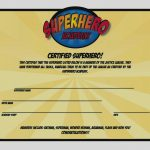Ideas Collection For Superhero Certificate Template Free Of Proposal   Free Printable Superhero Certificates