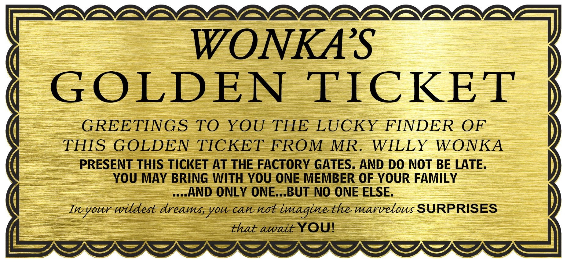Image Result For Willy Wonka Golden Ticket Template Free Download - Free Printable Wonka Bar Wrapper Template