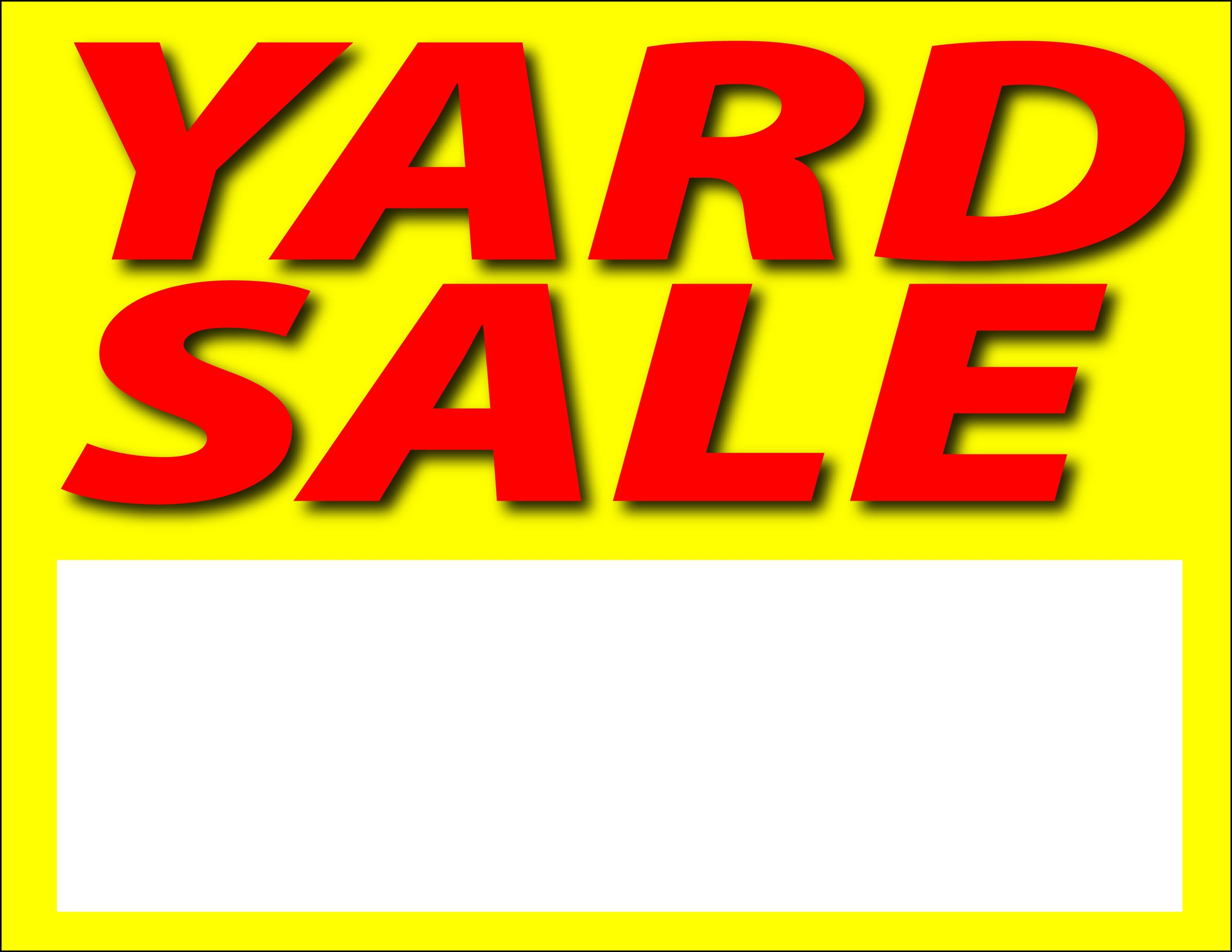 Images For Printable Yard Sale Sign Clipart Free To Use Clip - Free Printable Yard Sale Signs