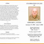 In Memoriam Cards Template Free Celebration Of Life Program   Free Printable Memorial Card Template