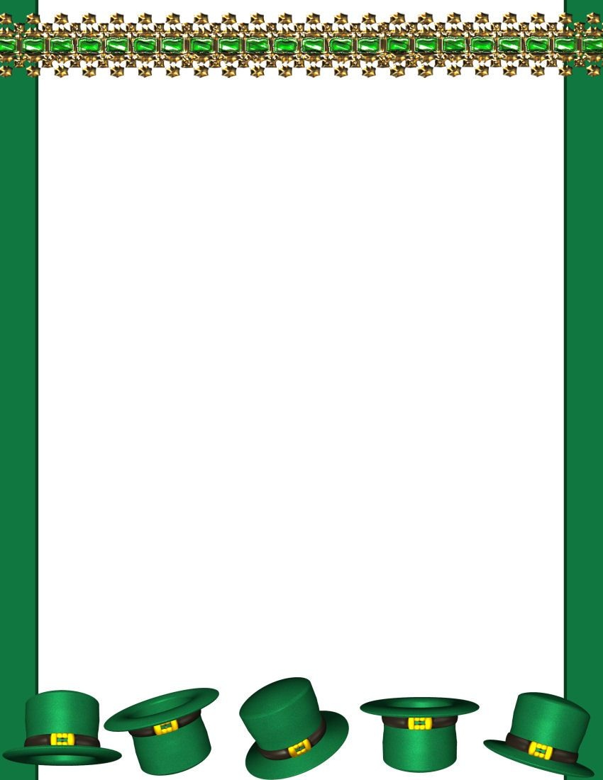 In The Early Seventeenth Century, Saint Patrick's Day Was Made An - Free Printable St Patricks Day Stationery