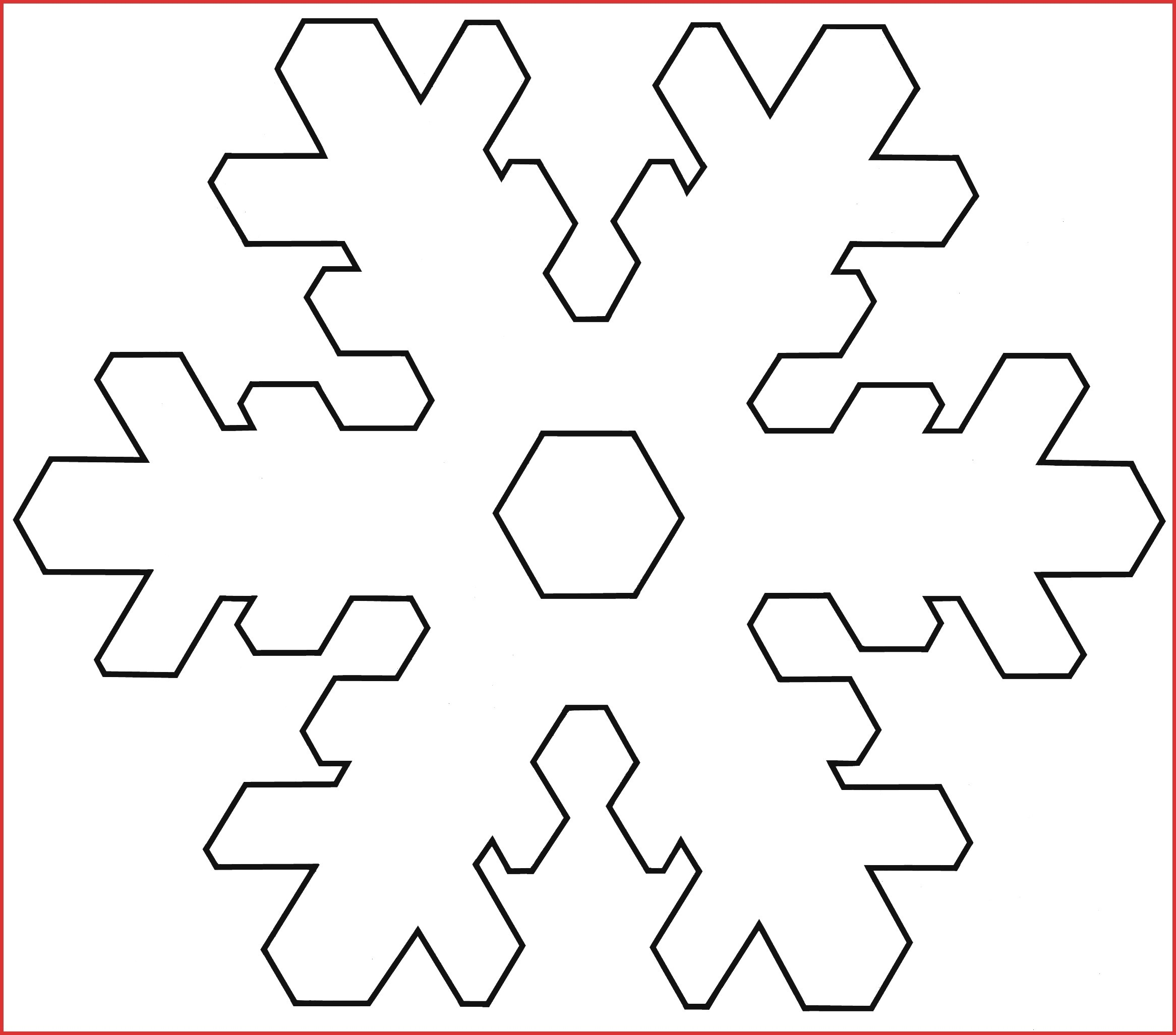 Inspirational Printable Snowflakes | Cobble Usa - Snowflake Template Free Printable