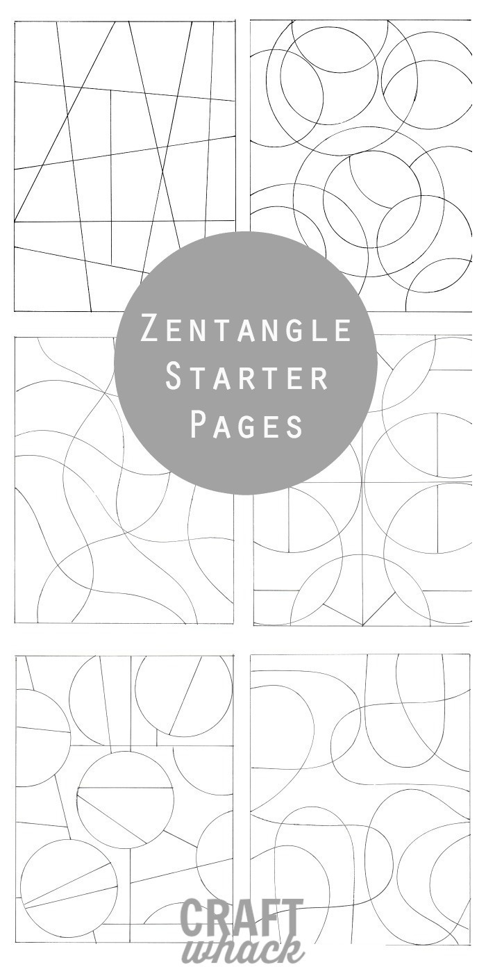 Inspiredzentangle: Patterns And Starter Pages · Craftwhack - Free Printable Zentangle Templates
