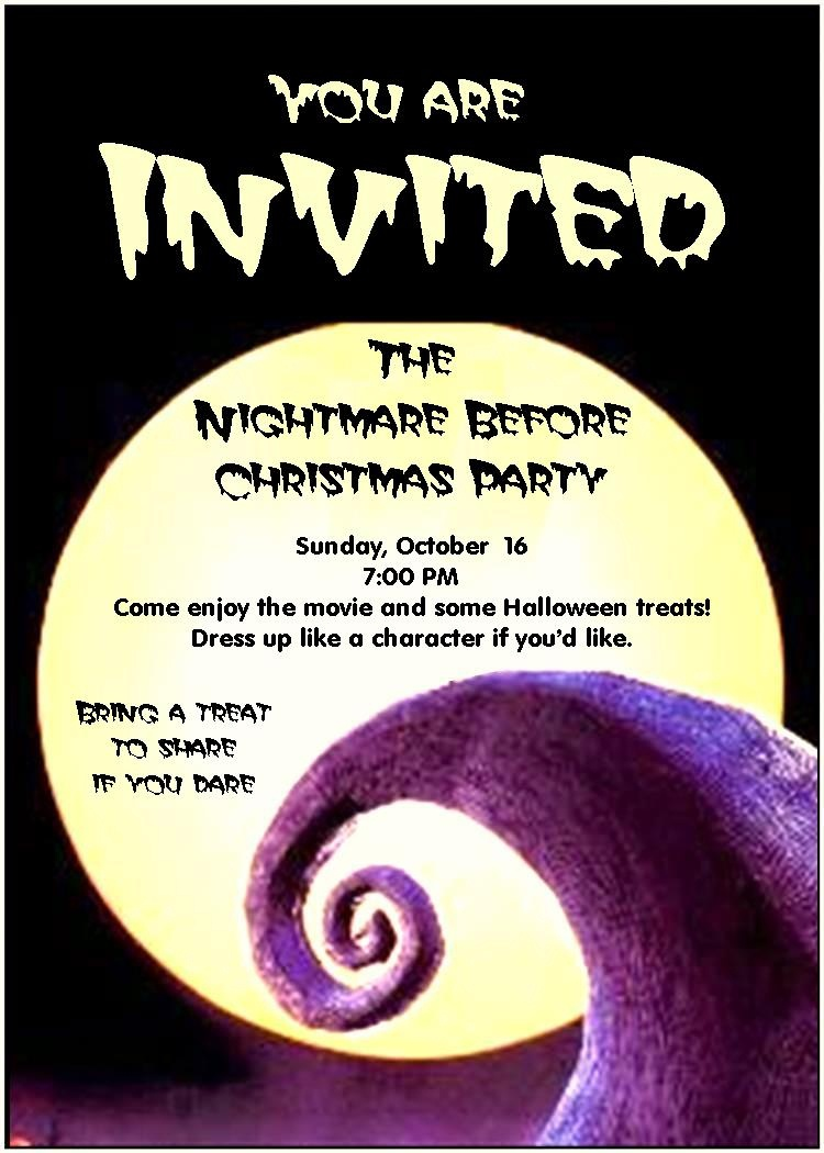 Inspiring Nightmare Before Christmas Birthday Invitations For - Free Printable Nightmare Before Christmas Birthday Invitations