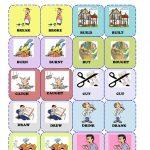 Irregular Verbs Memory Card Game( 1/3) Worksheet   Free Esl   Free Printable Matching Cards
