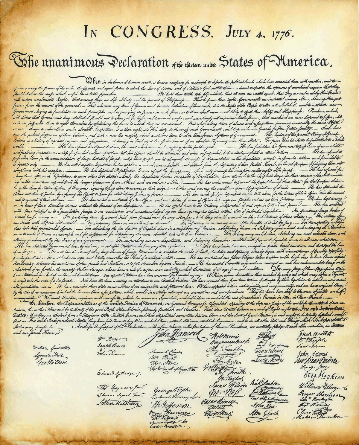 Is It Real? - Free Printable Copy Of The Declaration Of Independence