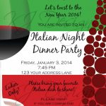 Italian Dinner Party Invitation Template | Parties | Dinner Party   Free Printable Italian Dinner Invitations