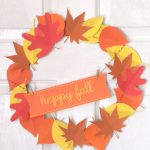 It's Easy To Make Your Own Happy Fall Paper Wreath! Free Printable   Free Printable Autumn Paper