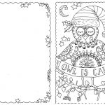 Jolly Christmas Coloring Pages Christmas Day Free Holiday. Do Your   Free Printable Color Your Own Cards