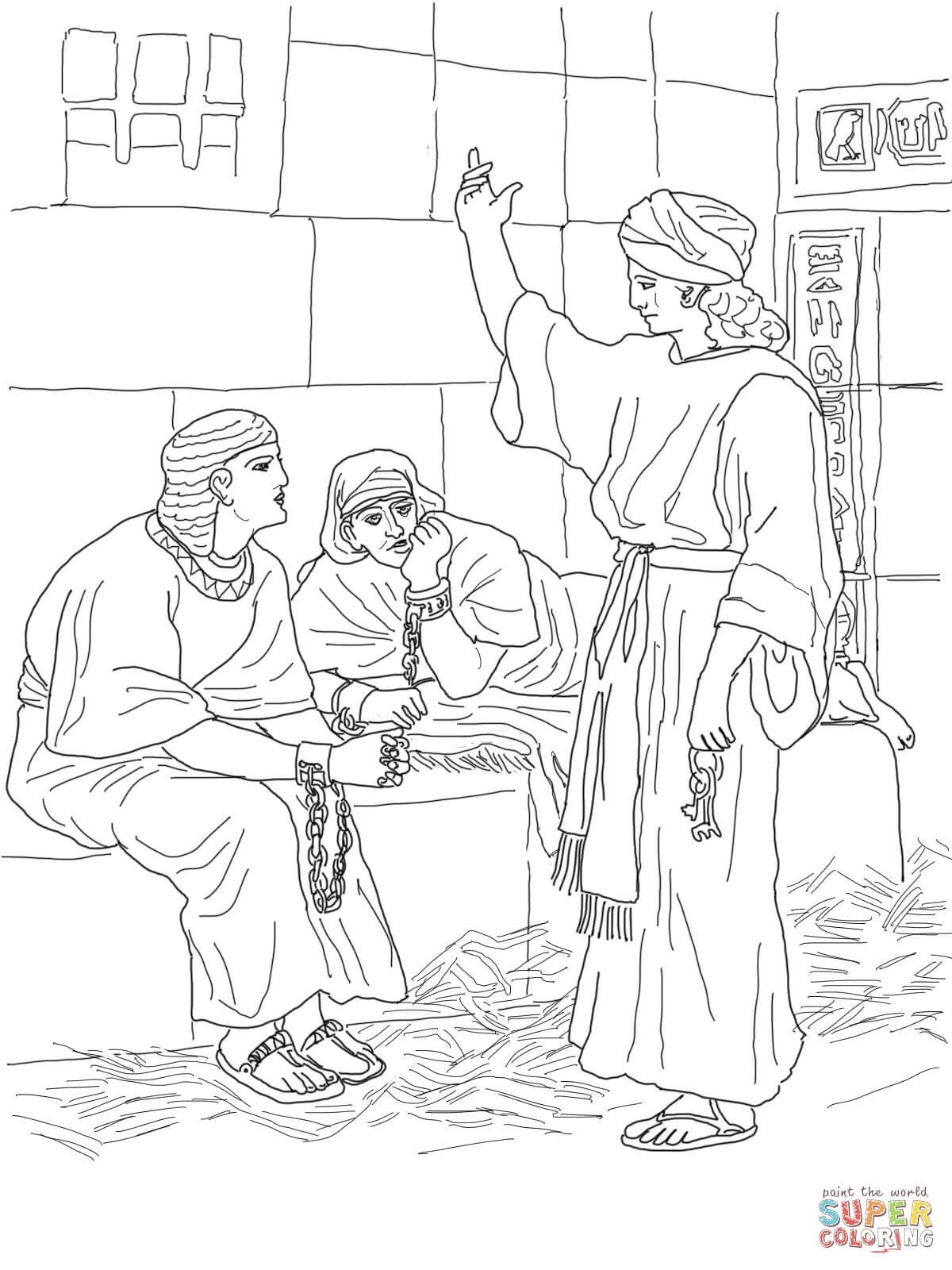 Joseph In Prison Coloring Page | Free Printable Coloring Pages - Free Printable Bible Story Coloring Pages