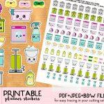Kawaii Trash Bins Stickers   Free Printable And Cut File   Lovely   Free Printable Stickers