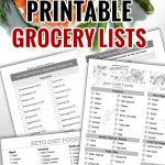 Keto Diet For Beginners With Printable Low Carb Food Lists   Craft Mart   Free Printable Low Carb Diet Plans