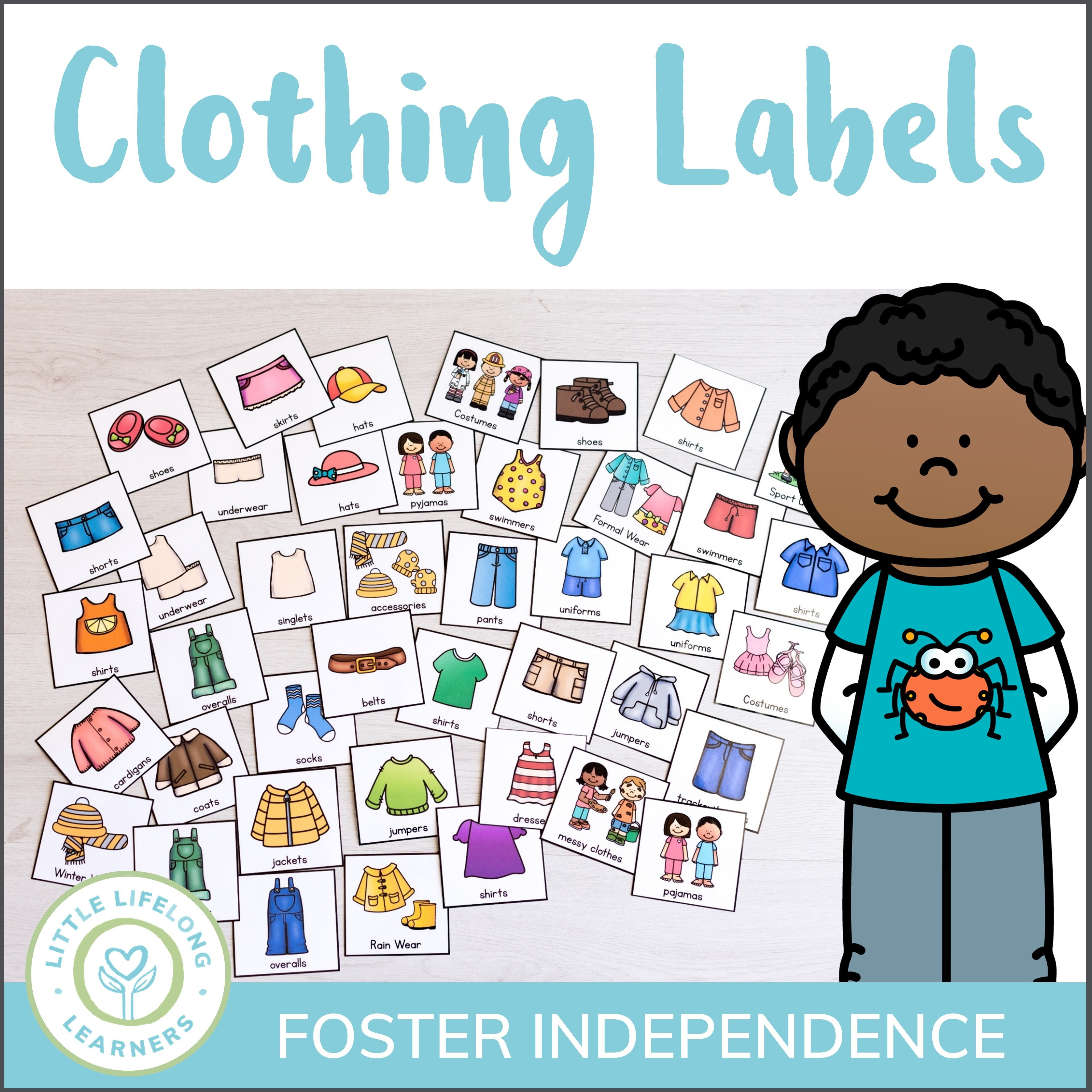 Kids Clothing Drawer Labels - Little Lifelong Learners - Free Printable Classroom Tray Labels