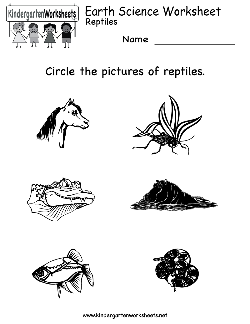 Kindergarten Earth Science Worksheet Printable   Worksheets (Legacy - Free Printable Reptile Worksheets