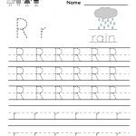 Kindergarten Letter R Writing Practice Worksheet Printable | Future   Free Printable Preschool Worksheets For The Letter R