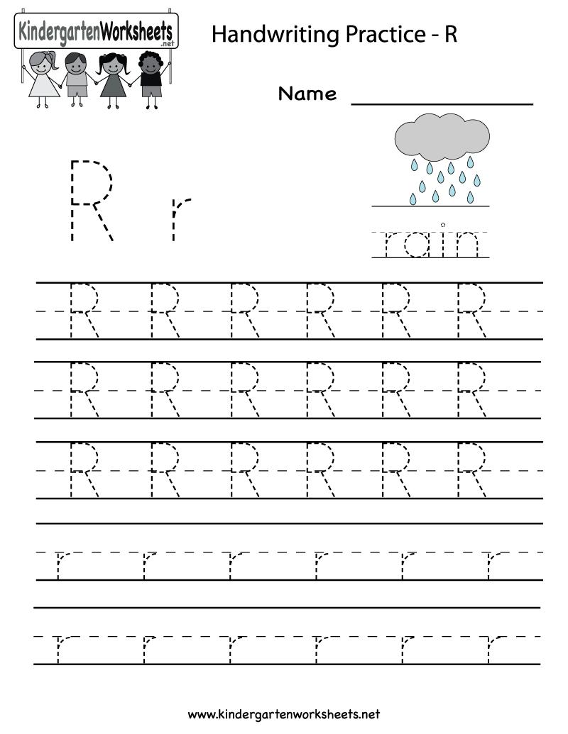 Kindergarten Letter R Writing Practice Worksheet Printable | Future - Free Printable Preschool Worksheets For The Letter R