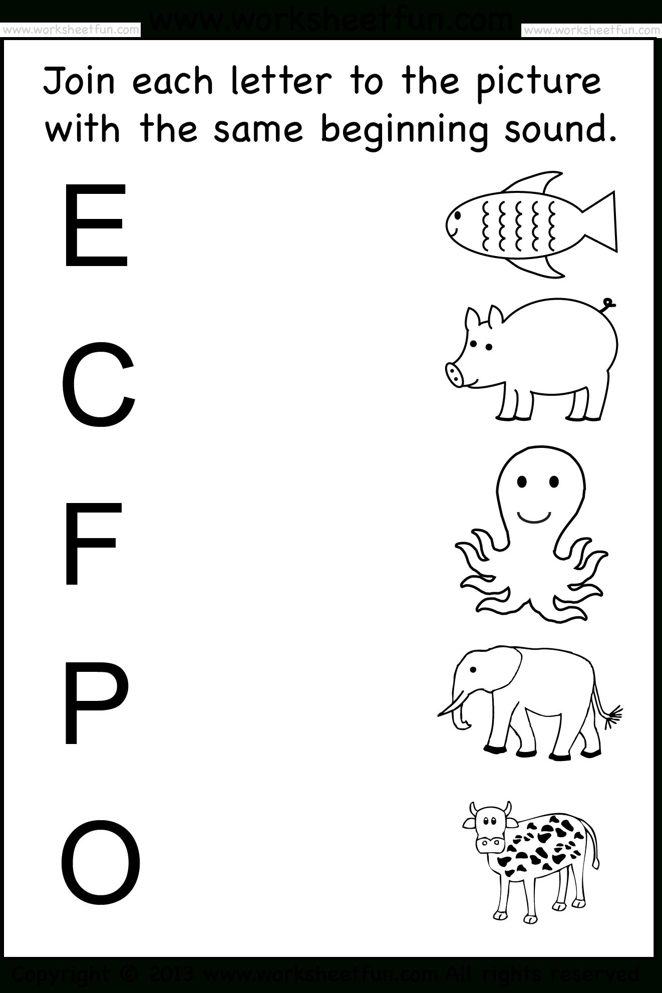 Kindergarten Worksheets / Free Printable Worksheets – Worksheetfun - Free Printable Same And Different Worksheets