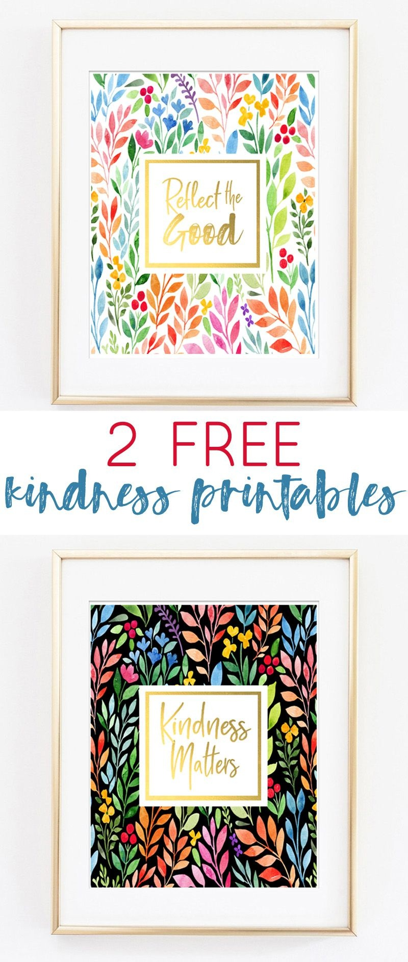 Kindness Matters {Free Printable Art} | Beautifully Printable | Free - Free Printable Decor