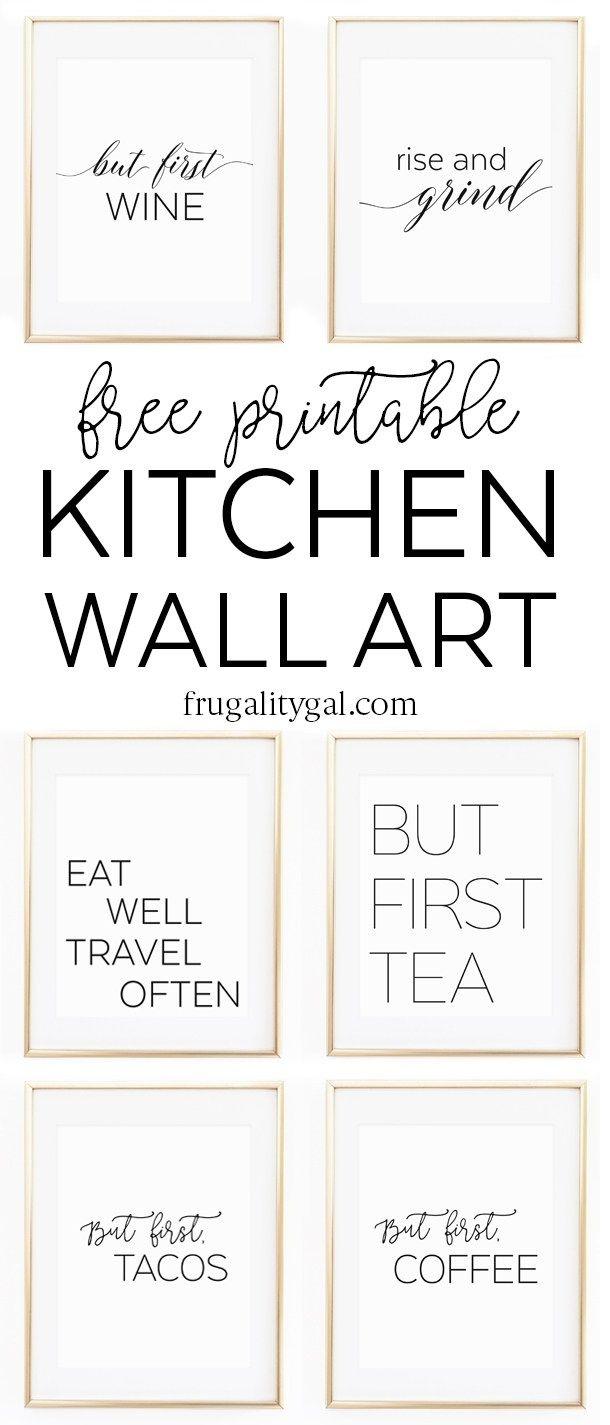 Kitchen Gallery Wall Printables | Free Printable Wall Art - Free Printable Images