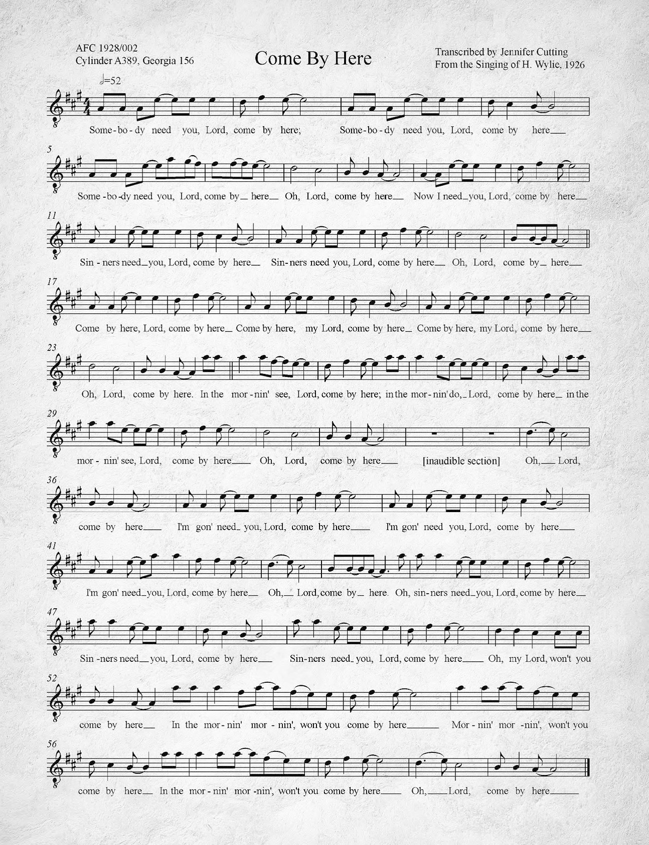 Kumbaya - Wikipedia - Free Printable Southern Gospel Song Lyrics