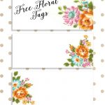 Labels: Pretty Floral Vintagetags | Best Free Digital Goods | Free   Free Printable Name Tags