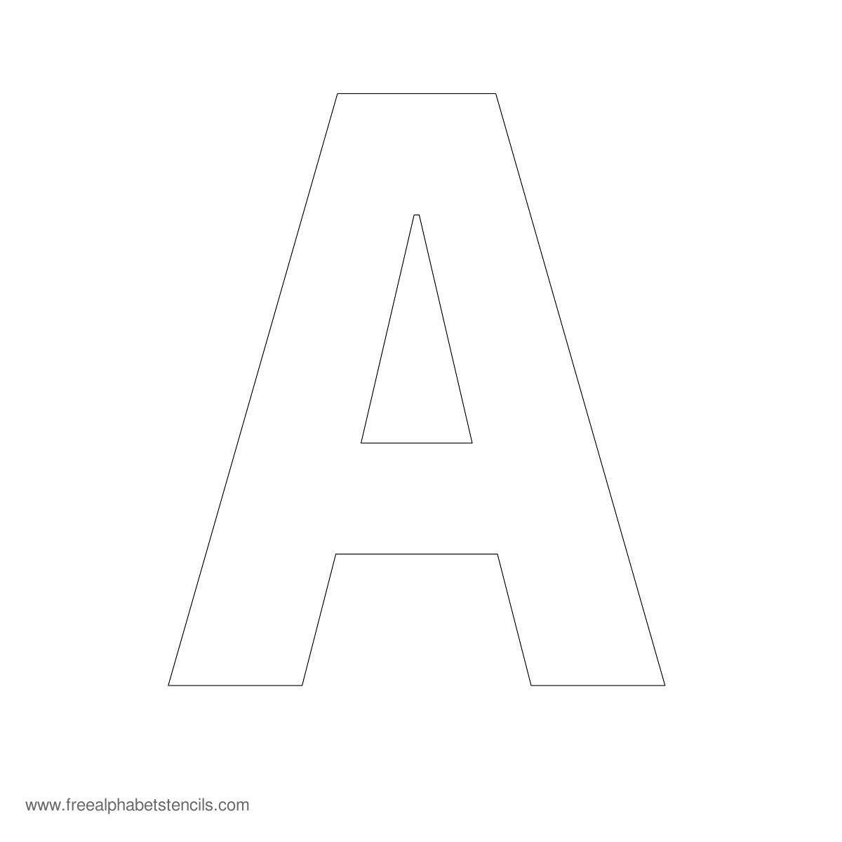 Large Alphabet Stencils | Freealphabetstencils - One Inch Stencils Printable Free