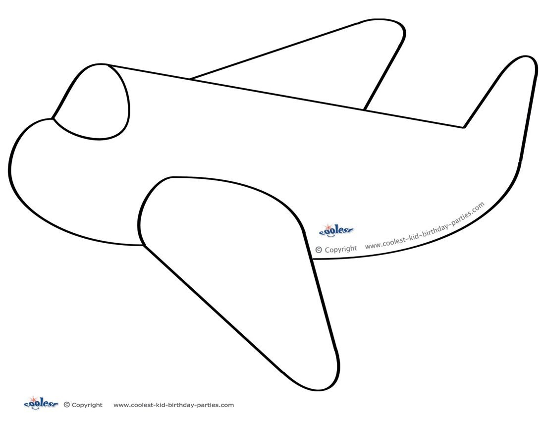 Large Printable Airplane Decoration - Coolest Free Printables - Free Printable Airplane Template
