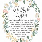 Late Night Diaper Signage | Baby Shower For Baby Miles! | Baby   Late Night Diaper Sign Free Printable