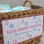 Late Night Diapers Baby Shower Printables | Drivendecor   Late Night Diaper Sign Free Printable